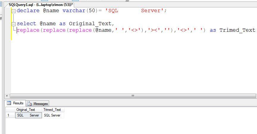SQL Server new Trim